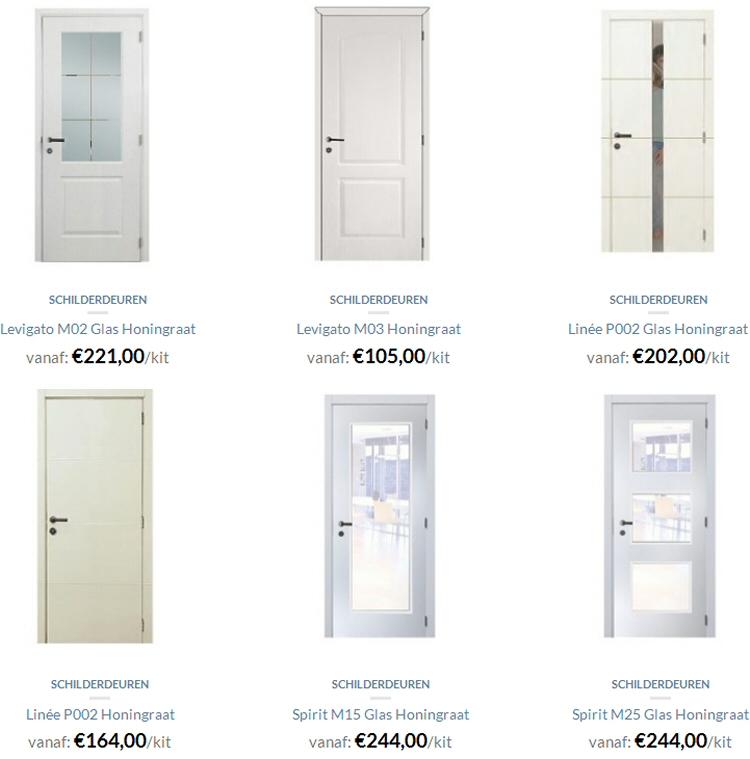 aanbod witte binnendeuren