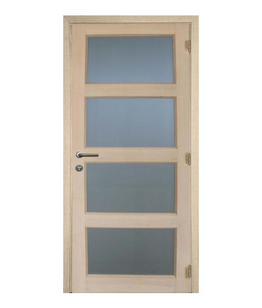 Pannello M06 – Eiken binnendeur met mat glas