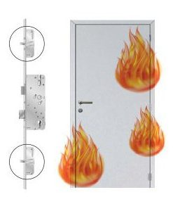 brandwerende deur met 3-puntsluiting