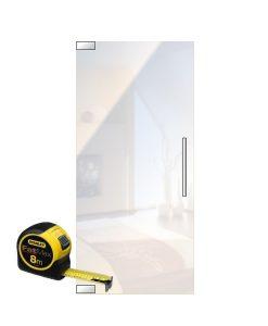 glasdeur op maat met vloerpomp